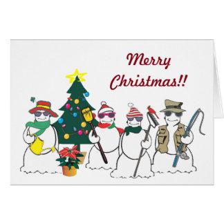 sneeuwman bedrijfswenskaart kaart