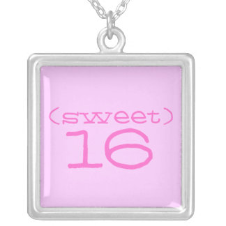 Snoepje 16 Roze Tegenhanger Bubblegum Ketting Vierkant Hangertje