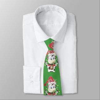 Cravate Snowbell la vache et le Noël allume la cravate