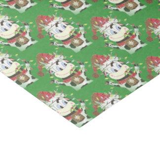 Snowbell le papier de soie de soie de vert de Noël