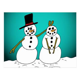 Snowmen1 Cartes Postales