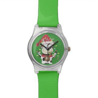 Snwowbell la vache et le Noël allume la montre