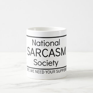 Société nationale de sarcasme mug blanc