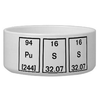 Sodium de plutonium (chat) assiette pour chien