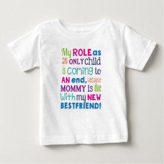Soeur d'Indiquer-Nouveau bébé de grossesse T-shirt Pour Bébé