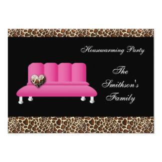 sofa rose chic, invitation de partie