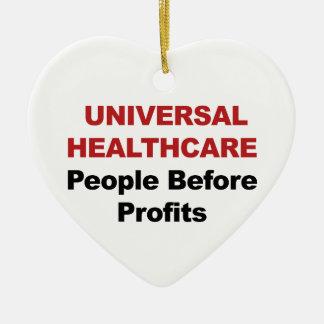 Soins de santé universels ornement cœur en céramique
