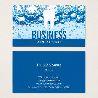 Soins dentaires de professionnel de dent et d'eau cartes de visite