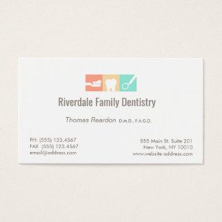 Soins dentaires modernes de dentiste cartes de visite