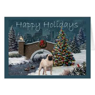 Soirée de carte de Noël de carlin
