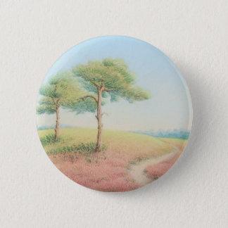Soirée Sun, nouveaux pins de forêt au pastel Badge Rond 5 Cm