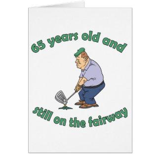 soixante-cinquième Cadeau de bâillon de golfeur d' Carte De Vœux