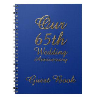 soixante-cinquième Saphir de bleu de livre