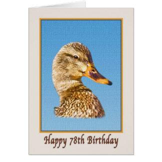 soixante-dix-huitième Carte d'anniversaire avec le