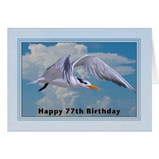 soixante-dix-septième Carte d'anniversaire avec