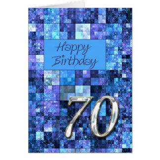soixante-dixième Carte d'anniversaire avec les