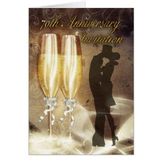 soixante-dixième Carte d'invitation d'anniversaire