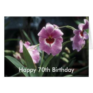Soixante-dixième carte heureuse de fleur