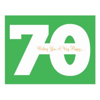 Soixante-dixième cartes postales heureuses d'étape