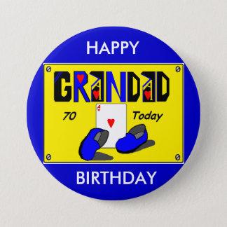 Soixante-dixième insigne d'anniversaire de PAPY Badge Rond 7,6 Cm