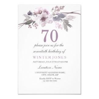 Soixante-dixième invitation floral assez pourpre