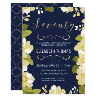 soixante-dixième L'invitation d'anniversaire, Carton D'invitation 12,7 Cm X 17,78 Cm