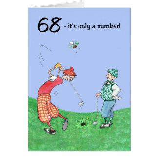 soixante-huitième Carte d'anniversaire pour un gol