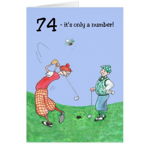 soixante-quatorzième Carte d'anniversaire pour un