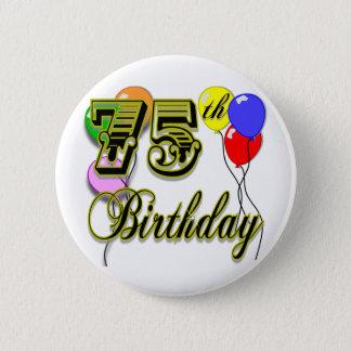 Soixante-quinzième célébration heureuse badge rond 5 cm