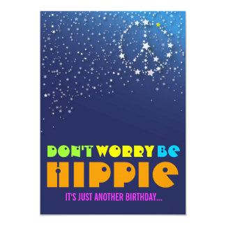 Soixante-quinzième invitations heureuses hippies