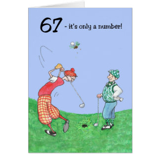 soixante-septième Carte d'anniversaire pour un gol
