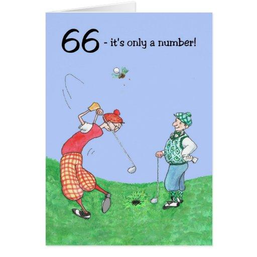 soixante-sixième Carte d'anniversaire pour un golf