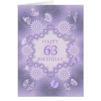 soixante-troisième carte d'anniversaire avec des