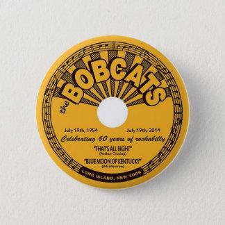 soixantième anniversaire de bouton de rockabilly badge rond 5 cm