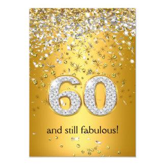 Soixantième anniversaire fabuleux de 60 flammes carton d'invitation  12,7 cm x 17,78 cm