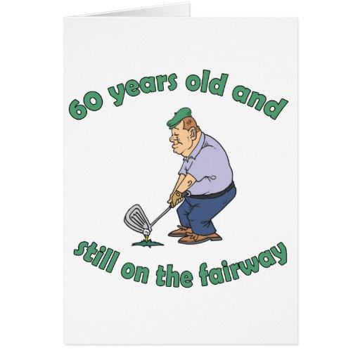 soixantième Cadeau de bâillon de golfeur d'anniver Cartes De Vœux