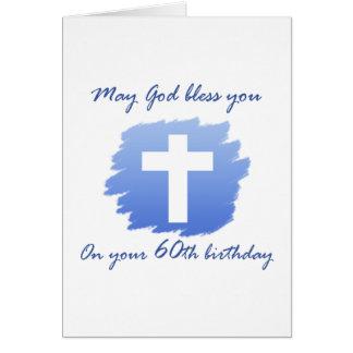 Soixantième carte d'anniversaire de chrétien