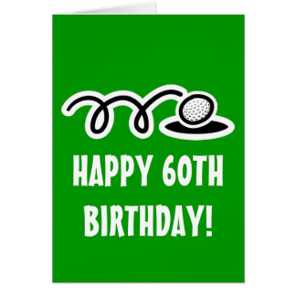 Soixantième carte d'anniversaire heureuse pour des