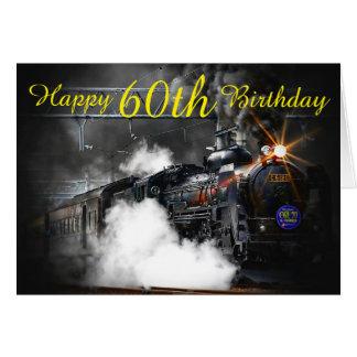 soixantième Carte de train de vapeur