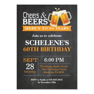 Soixantième carte d'invitation d'anniversaire