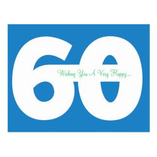 Soixantième cartes postales heureuses d'étape