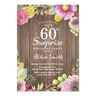 Soixantième invitation d'anniversaire de surprise