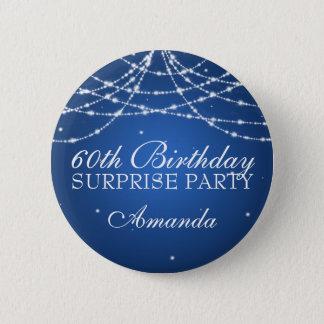 soixantième La ficelle de fête d'anniversaire de Badge Rond 5 Cm
