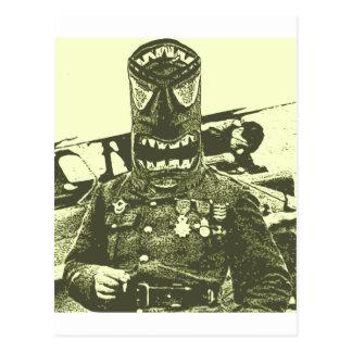 Soldat de masque de Tiki Carte Postale