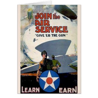 Soldat militaire d'avion d'affiche de WWI Carte