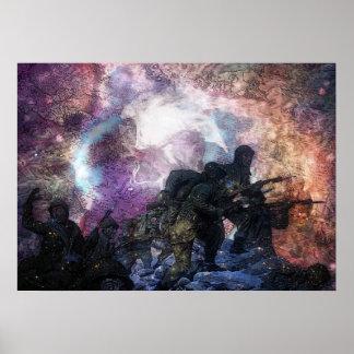 Soldats psychédéliques poster
