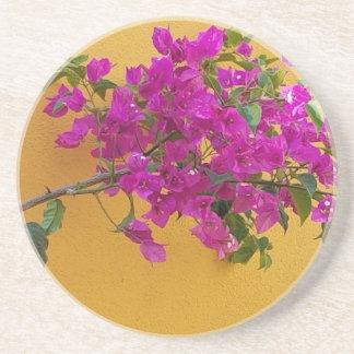 Soleil jaune de voûte de fleur de rose de mur dessous de verre en grès