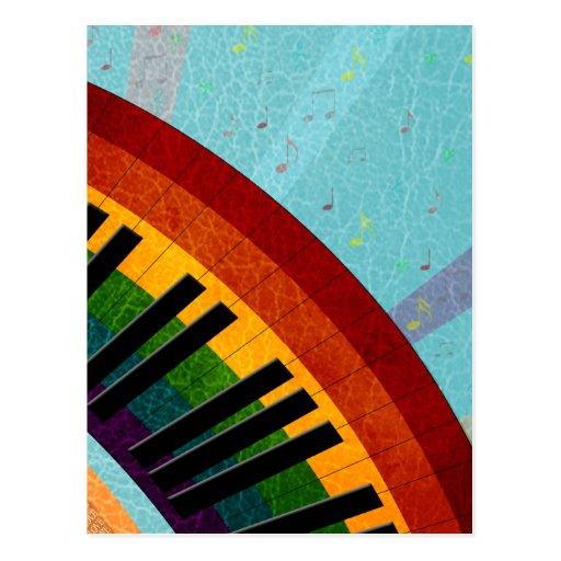 soleil sur le piano rond de réflexions de l'eau carte postale