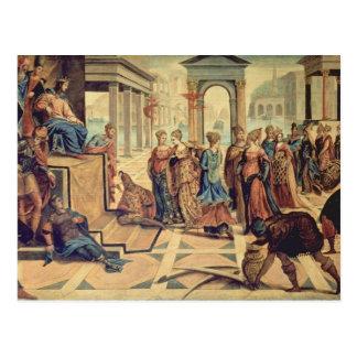 Solomon et la reine de Sheba Carte Postale