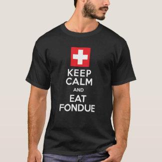 Solution suisse : Maintenez calme et mangez la T-shirt